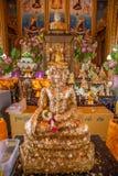 Buddha in un tempiale della Tailandia fotografia stock