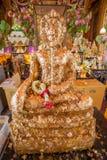 Buddha in un tempiale della Tailandia fotografie stock libere da diritti
