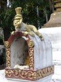 Buddha in un tempio in Luang Prabang Fotografia Stock Libera da Diritti