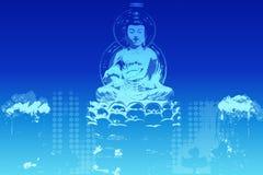 Buddha in una priorità bassa della condizione di zen Fotografia Stock