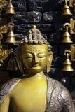 Buddha und die Glocken Stockbild