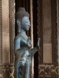 Buddha und Hände in Laos Lizenzfreie Stockbilder
