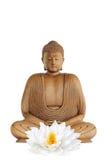 Buddha-und Lotos-Lilien-Blume Stockfoto