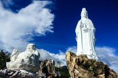 Buddha und Mutter an einem sonnigen Tag Lizenzfreies Stockfoto