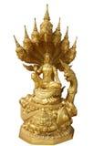 Buddha und sieben gingen Schlange voran Stockfotografie