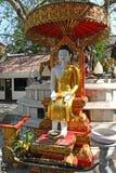 Buddha under the Bodhi tree Stock Photos