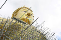 Buddha under construction Royalty Free Stock Photography