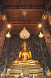 Buddha uroczysty Złoto Hall Obrazy Stock