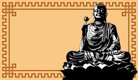 Buddha. Vector illustration of meditation Buddha on background Stock Illustration