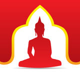 Buddha-Vektorillustration Stockbild