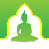 Buddha-Vektorillustration Lizenzfreies Stockbild
