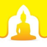 Buddha-Vektorillustration Stockfoto