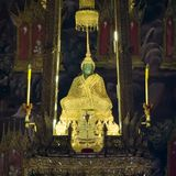 Buddha verde smeraldo immagine stock