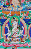 Buddha von thangka Stockfoto