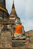 Buddha w świątyni Zdjęcia Stock