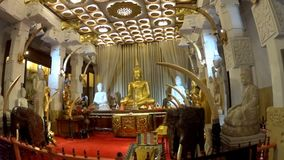 Buddha w świątyni ząb Buddha zbiory