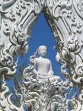 Buddha w Świątynnej bramie, Chiang Raja, Tajlandia Obraz Stock