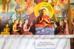 Buddha w Bandarawela Buddyjskiej świątyni na Sri Lanka Fotografia Royalty Free