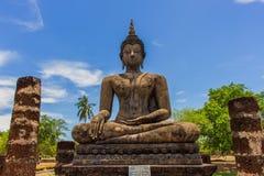 Buddha w sukhothai dziejowy parkowy Tajlandia Obrazy Stock