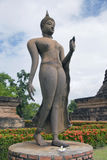 Buddha in walking position Stock Photography