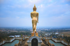 Buddha in Walking Posture, Wat Phra That Khao Noi royalty free stock photo