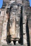 Buddha on Wall of Lankatylaka Stock Photo