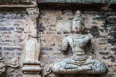 Buddha on the wall of the pagoda. Wat Chet Yot, Chiang Mai Royalty Free Stock Photography