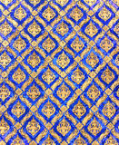 Buddha wall Thai style pattern Stock Photos