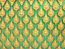 Buddha wall of Thai style pattern design Stock Images
