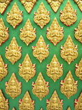 Buddha wall of Thai style pattern design Royalty Free Stock Photos