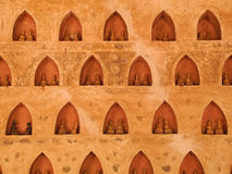 Buddha wall in vientiane,Laos Royalty Free Stock Images