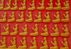 Buddha-Wand Stockbild