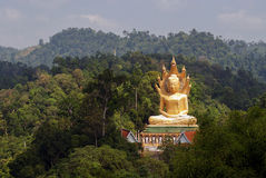 Buddha / Wat Bang Riang in Phang Nga Province, Thailand. Royalty Free Stock Images