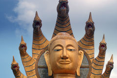Buddha / Wat Bang Riang in Phang Nga Province, Thailand. Royalty Free Stock Photography