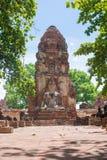 Buddha at Wat Mahatat. Statue of Buddha at Wat Mahatat, Ayutthaya Thailand Stock Photo