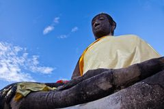 A Buddha in Wat Mahathat of Ayutthaya Stock Photos