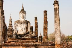 Buddha in Sukhothai, Thailand Stock Photos