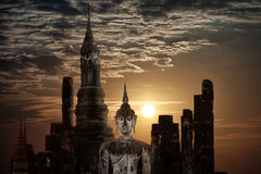 Buddha at Wat Mahathat Temple. Thailand Stock Photo