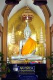 Buddha in Wat Naphameru-Tempel in historischem Park Ayutthaya von Thailand Lizenzfreie Stockfotos