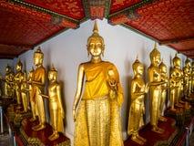 Buddha at Wat Pho long corridor Royalty Free Stock Images