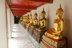 Buddha, Wat Pho Tailandia Fotografia Stock