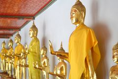 Buddha in Wat Pho Temple Royalty Free Stock Images