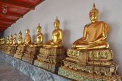 Buddha in Wat Pho Temple Royalty Free Stock Photo