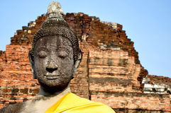 Buddha in Wat Phra Mahathat 3. Buddha in Wat Phra Mahathat, Ayutthaya, Thailand Royalty Free Stock Images