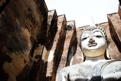 Buddha. Wat Si Chum temple strands or black. ruins in Sukhothai Historical Park , Sukhothai , the ancient temple is located west of Palermo Stock Image