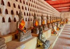 Buddha at Wat Sisaket. Vientiane. Laos. Buddha sculptures at Wat Sisaket. Vientiane. Laos Stock Image