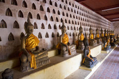 Buddha at Wat Sisaket in Vientiane Royalty Free Stock Photography