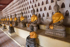 Buddha at Wat Sisaket in Vientiane Stock Photo