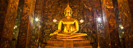 A Buddha in Wat Sutat of Bangkok Royalty Free Stock Image
