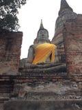 buddha Wat Yai Chaimongkol Ayutthaya Thailand Imagem de Stock